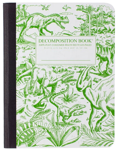 Recycled Notebook | 100% Post Consumer Waste | Dinosaurs Decomposition Book