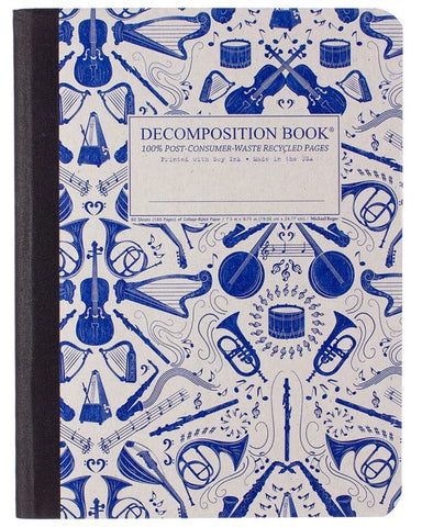 Recycled Notebook | 100% Post Consumer Waste | Acoustic Decomposition Book