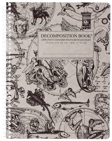 Recycled Notebook | 100% Post Consumer Waste | Gargoyles Decomposition Book