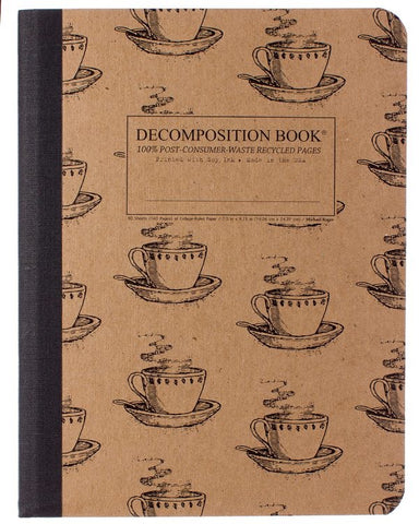 Recycled Notebook | 100% Post Consumer Waste | Coffee Cup Decomposition Book