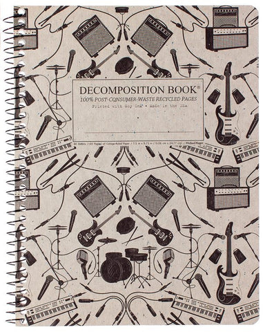 Recycled Notebook | 100% Post Consumer Waste | Plugged-in Decomposition Book