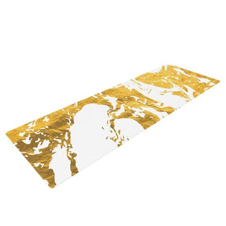 LIFESTYLE BY KESS INHOUSE  Gold Ink on Water Yoga Mat
