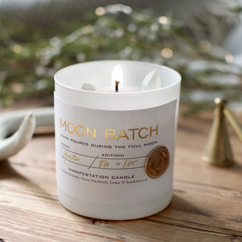Full Moon Blend | February 19th Full Super Snow Moon Batch Candle by Ritual Provisions