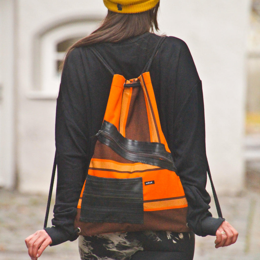 Marki-Bag Orange (Upcycling-Produkt aus Markisenstoff)