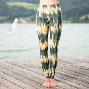 Leggings The Beach (Längsstreifen-Batik)
