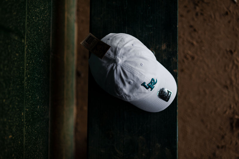 RCK x 47 - LR Travelers Clean Up Dad Hat (White/Teal)