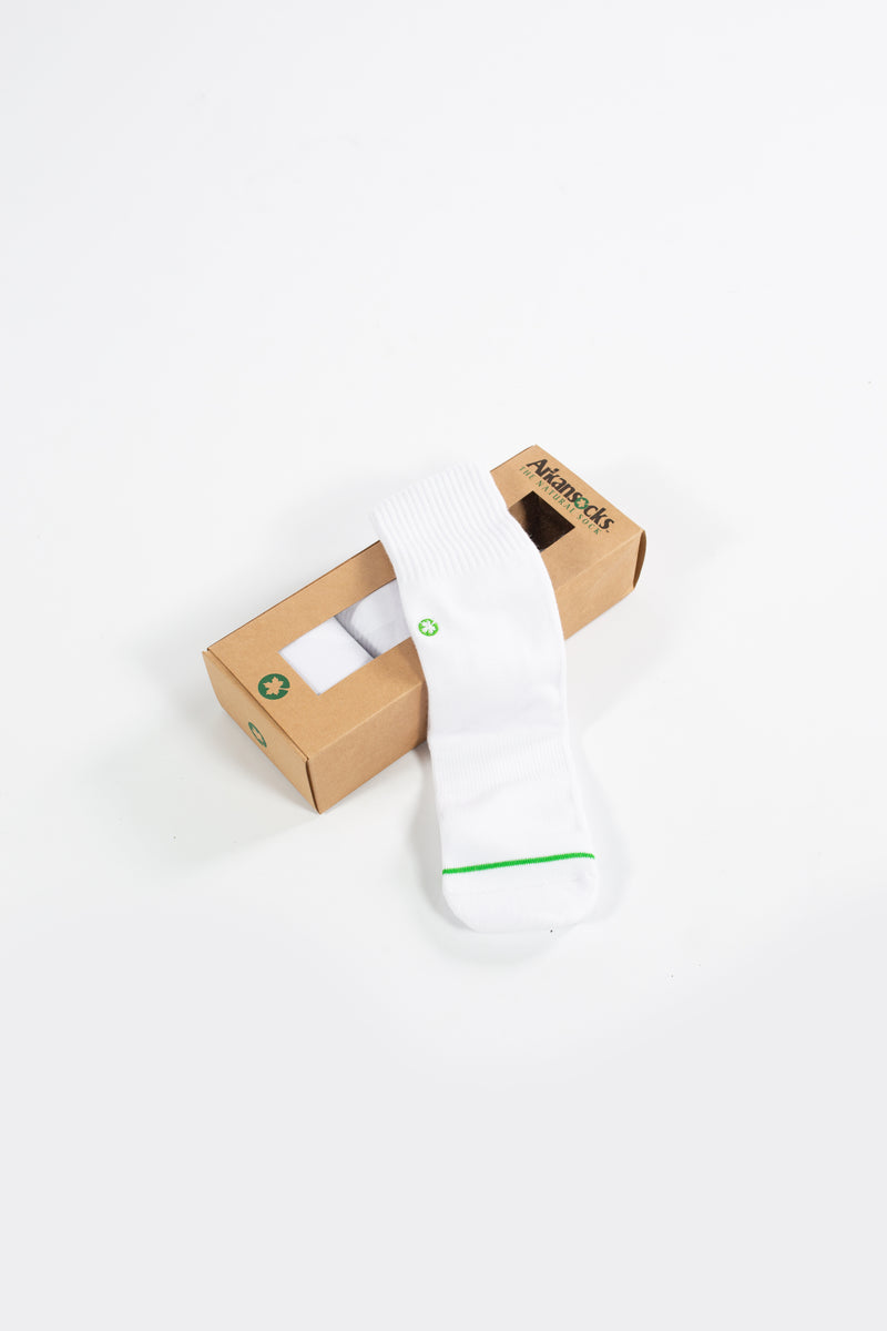 Arkansocks - Plain Jane 3 Pack (White/White)