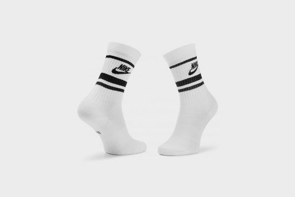Nike Everyday Essential Crew Sock 3 Pack (White/Black)