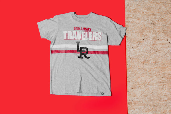 RCK x 47 - LR Travelers OG Gameline Tee (Grey/Red/White)