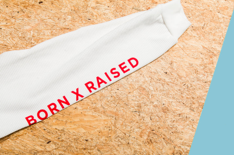 Born X Raised - Long Sleeve Crew Neck Tee (Cream)