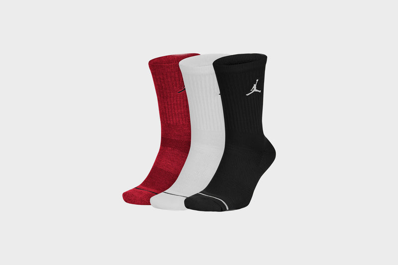 Jordan Everyday Max Crew 3 Pack Socks (Black/White/Red)
