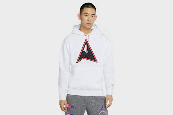 Jordan Winter Utility Men's Fleece Pullover Hoodie (White/Barely Volt)