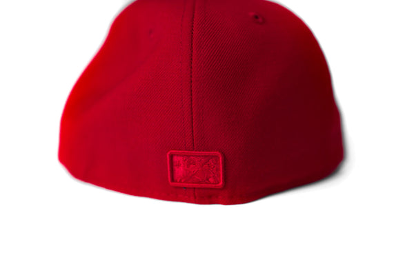 LR 5950 New Era Fitted (Red/Red)