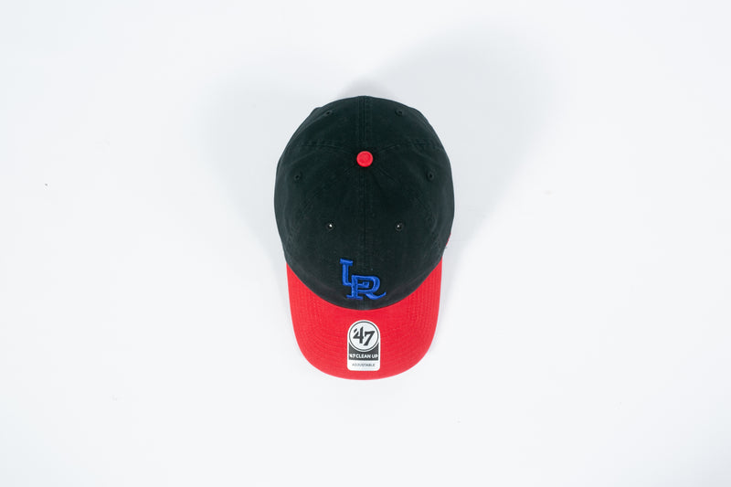 RCK x 47 - LR Travelers Clean Up Dad Hat (Black/ Red/ Blue)