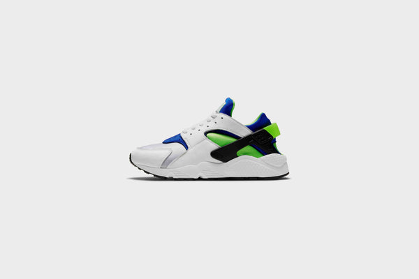 Nike Air Huarache (White/Scream Green-Royal Blue)