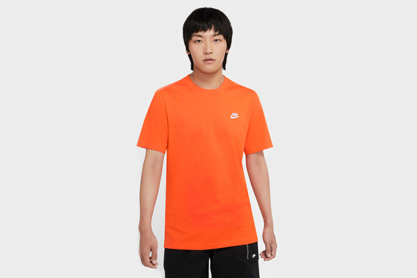 Nike Embroidered Futura T-Shirt (Orange/White)
