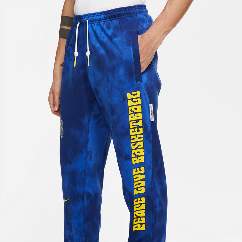 Nike Peace, Love, Basketball Pants (Blue Void/Speed Yellow)