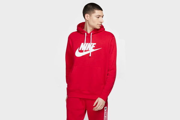 Nike Sportswear Club Hoodie (Red/White)