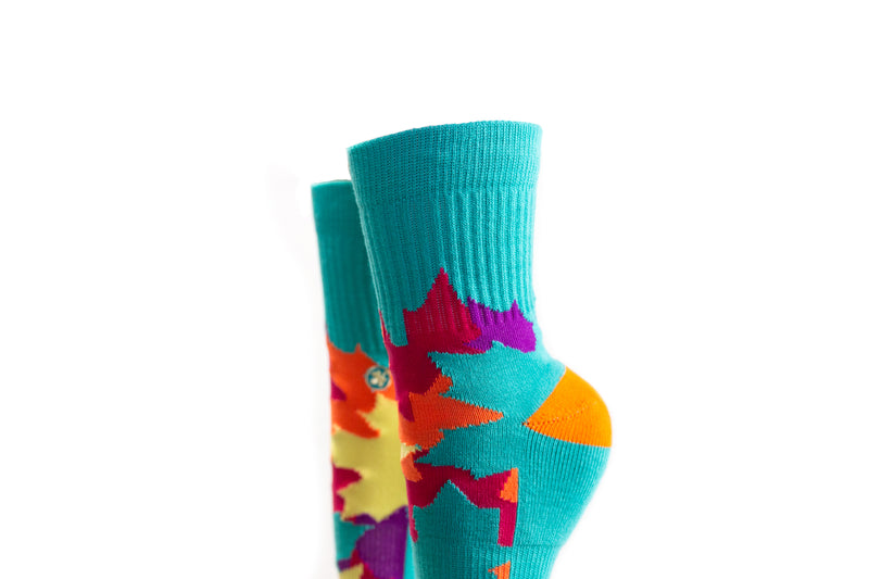 Arkansocks - Outbloom Mid (Rio Teal/Citrus-Violet)
