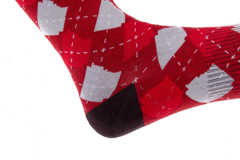Arkansocks - Argyle State Of Mind (Team Red/Ash Grey)