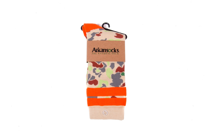 Arkansocks - Duck Camp (Tan/Orange)