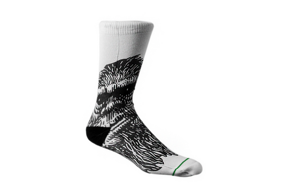 Arkansocks - Mug Shot (White/Black)