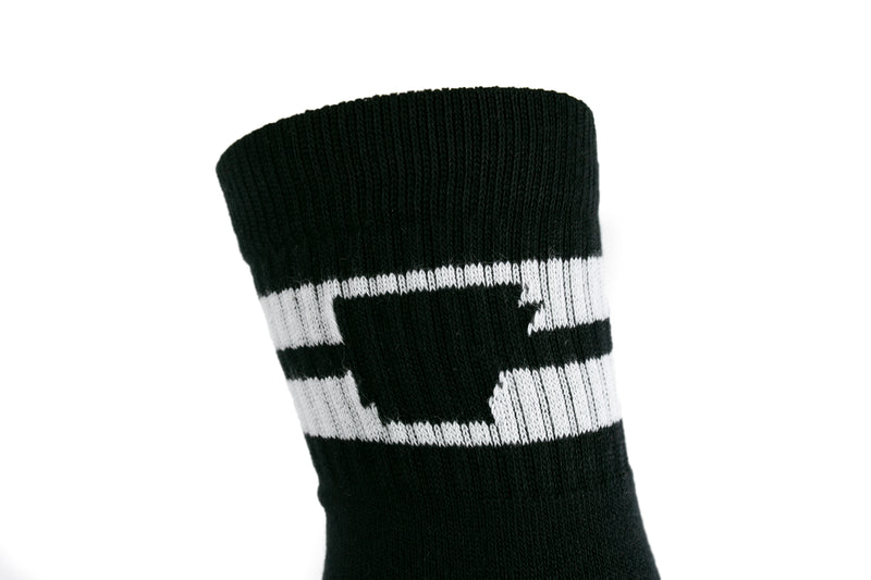 Arkansocks - Tailgater Mid (Black/White)