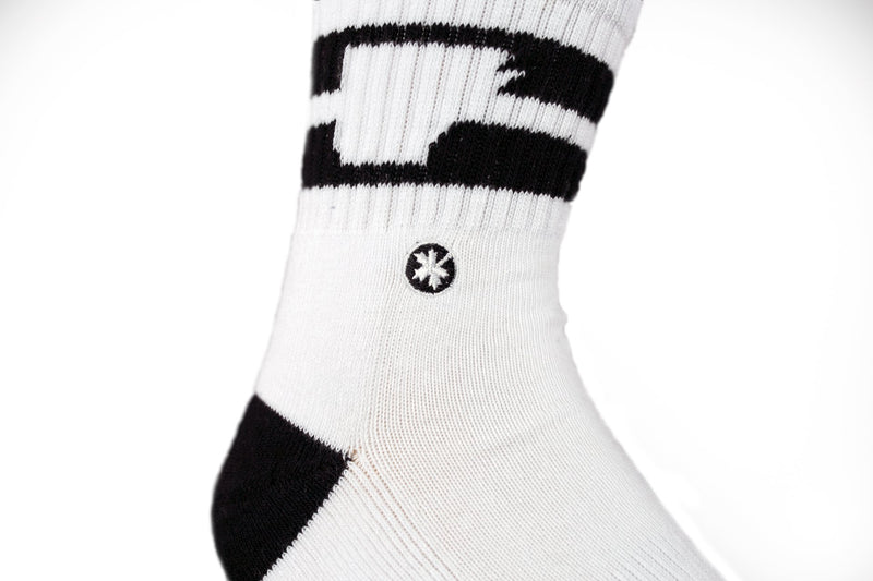 Arkansocks - The Tailgater Mid (White/Black)
