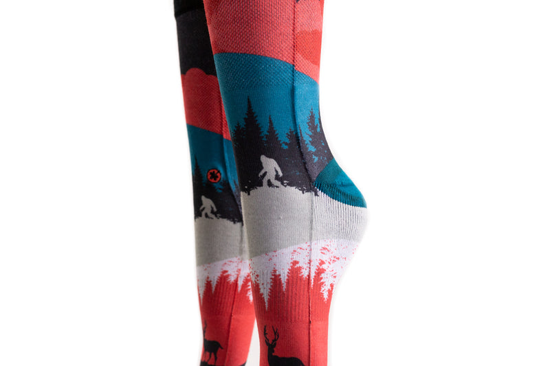 Arkansocks - Nightfall (Geode Teal/Crimson)
