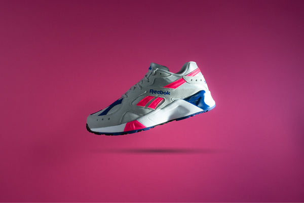 Reebok AZTREK (Grey/Acid Pink/Royalty/White)