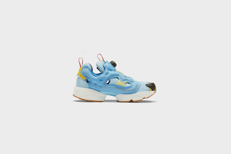 Reebok x Adidas Instapump Fury Boost (Dandy Blue/Sky Blue/Yellow Sensation)