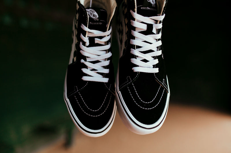 Vans Checkerboard Sk8-Hi Lite (Black/White)
