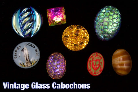 Vintage Glass Cabochons