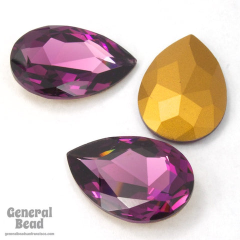 4327 20mm x 30mm Amethyst Pear Doublet-General Bead