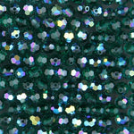Swarovski 5000 4mm Emerald AB Faceted Bead