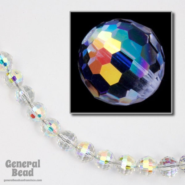 Swarovski 5003 6mm Crystal Ab Round Faceted Bead General