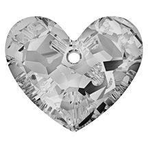 Swarovski 6264 Crystal Satin Truly In Love Heart (18mm, 28mm)