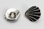 13mm TierraCast Antiqued Silver Scallop Shell Button 94-6602-12