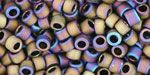 AQV615 Matte Brown/Teal Iris Toho Treasure-General Bead
