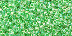 AQV775 Grass Green Lined Crystal AB Toho Treasure-General Bead