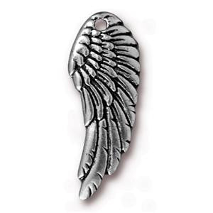 11mm x 28mm Antique Silver Tierracast Wing Charm