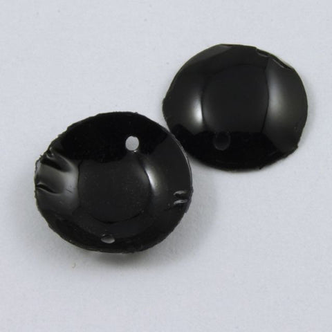 10mm Black Smooth Dome Sequin