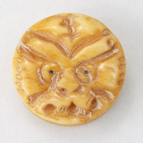17mm Carved Dragon Bone Bead-General Bead