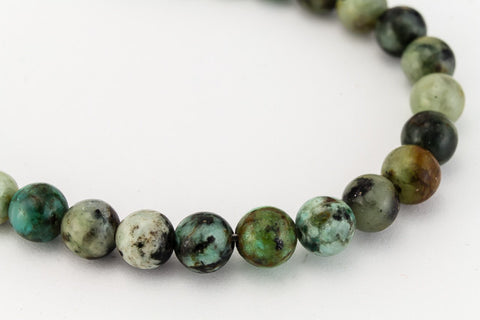 6mm African Turquoise Polished Round Bead (45 Pcs)