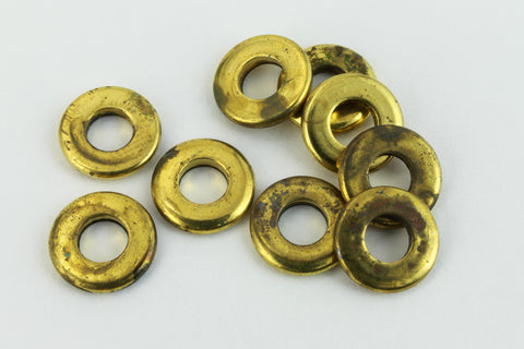 6.5mm Brass Washer (10 Pcs) #AGM001-General Bead