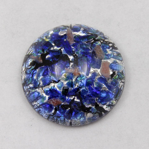 18mm Blue/Gold/Silver Foil Cabochon #AHH003-General Bead