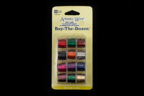 "Artistic Wire. ""Buy-The-Dozen"" 24 Gauge Round Wire Assorted Color Mix (1 Pack, 3 Pack)"