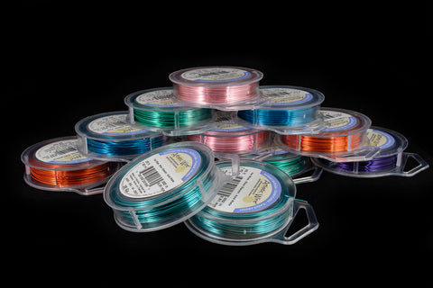 Artistic Wire. 20 Gauge Silver Plated Round Wire Assorted Color Mix (12 Spools)