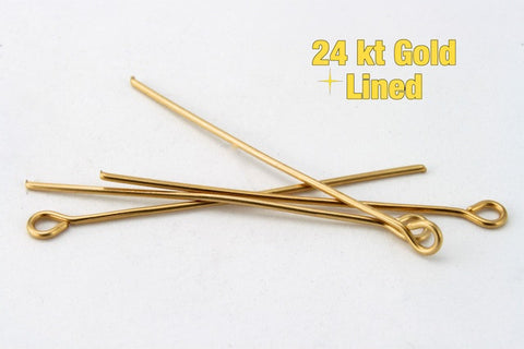 "1"" 24 Gauge Gold Filled Eye Pin #BGA013-General Bead"