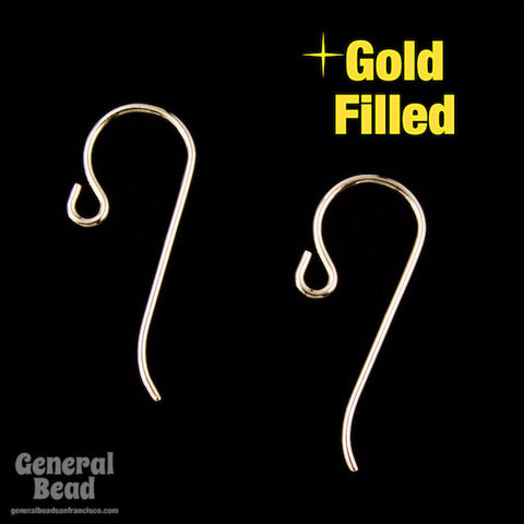 20mm Gold Filled Shepherd Hook Ear Wire #BGD017